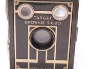 Camera Brownie Target Six 20 Art Deco Box