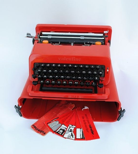saleolivetti valentine sottsass typewriter the. Black Bedroom Furniture Sets. Home Design Ideas
