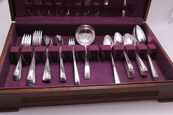 Vmteamhoho Sale Prestige Bordeaux Silver Plate Silverware 60