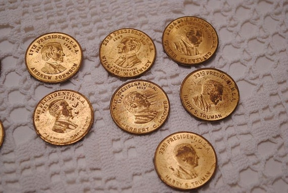 Vintage Presidential Token Coins Collection of Presidential (13 total) Shell Oil