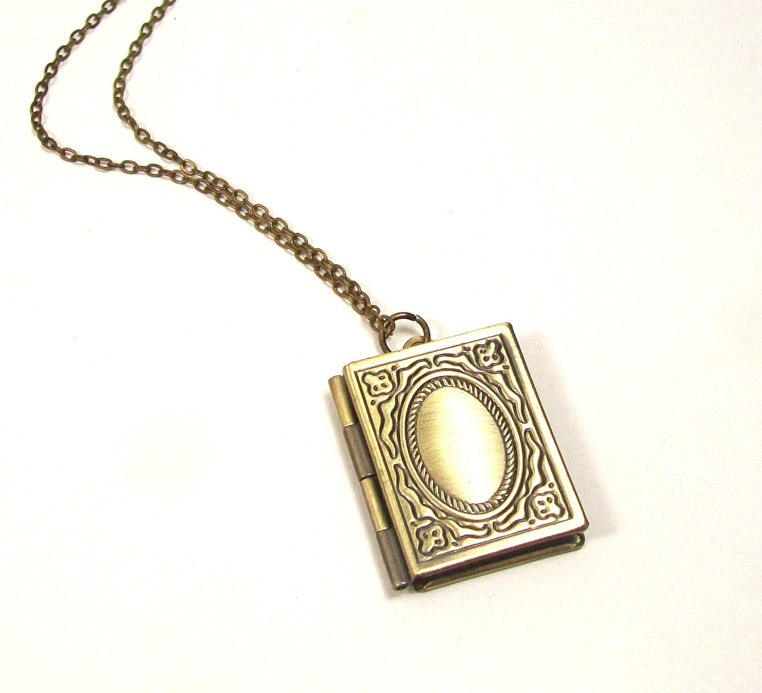 book locket book necklace book jewelry locket necklace by