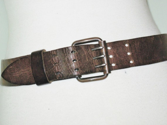 Rare Three Prong Vintage Leather Belt Ww2