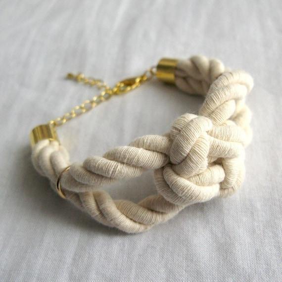 the sailor's knot bracelet in gold