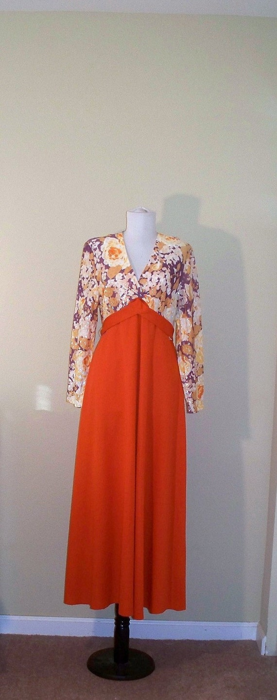 Vintage retro maxi evening dress