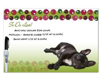 French Bulldog Multi Dot Dry Erase Board