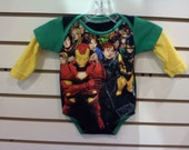UpCycled / RePurposed 1-Zee Bodysuit / Marvel Comics - Iron Man / Small