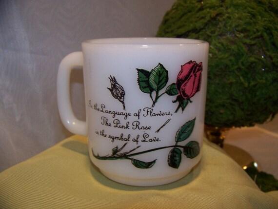 Vintage Glasbake Milk Glass Mug Coffee Cup