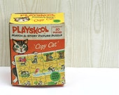 Reserved For Pele Vintage Playskool Copy Cat Puzzle In Original Box