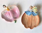 Antique Figural Ceramic Brooch Dishes Germany