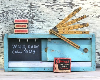 Vintage Salesman Sample Adjustable Door Guides Shabby Robins Egg Blue Repurpose Rare