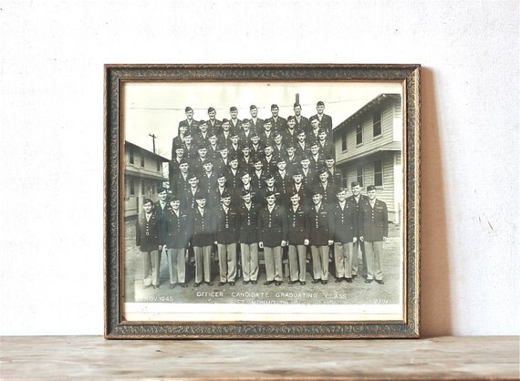 Circa 1945 Group Photograph Military Army Black And White,