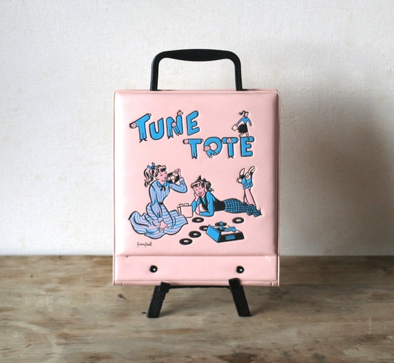 MId Century Tune Tote By Pony Tail 45 Record Album Holder