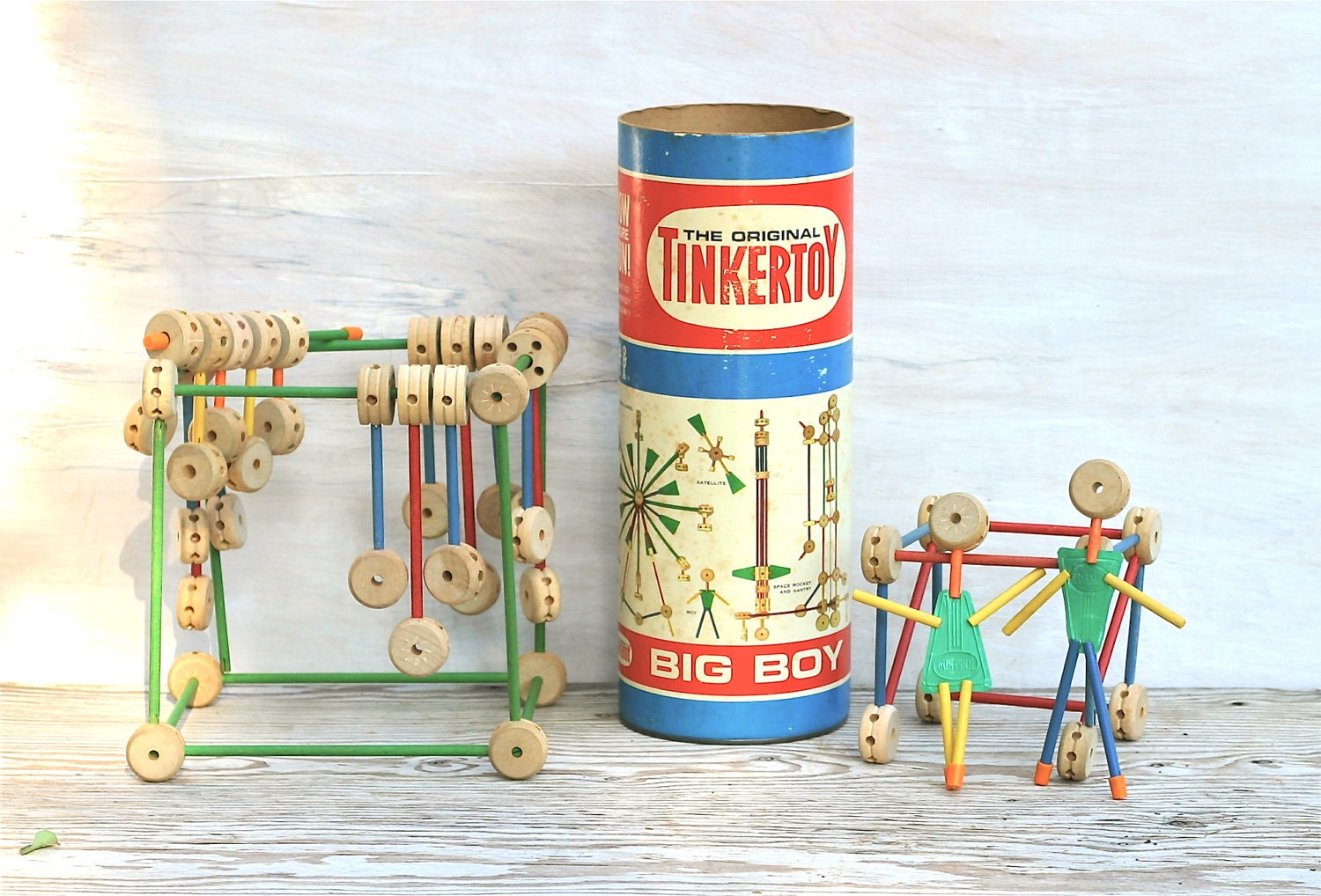 Tinker Toys For Boys : Circa s tinker toy big boy set