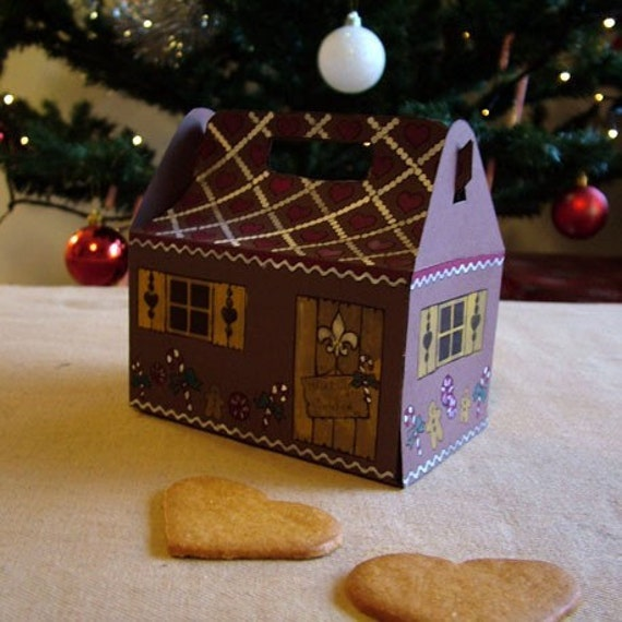 items similar to christmas gift boxes template gingerbread