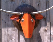 Art Metal Wall Sculpture Longhorn Steer