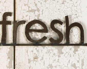 Fresh Wall Sign Metal Typography