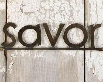 Decorative Signage Wall SAVOR sign