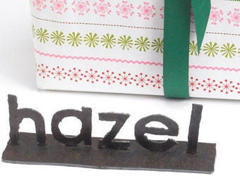 Personalized Name Reclaimed Metal Sign