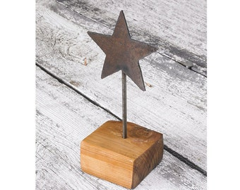 Primitive Star Recycled Metal and Reclaimed Wood