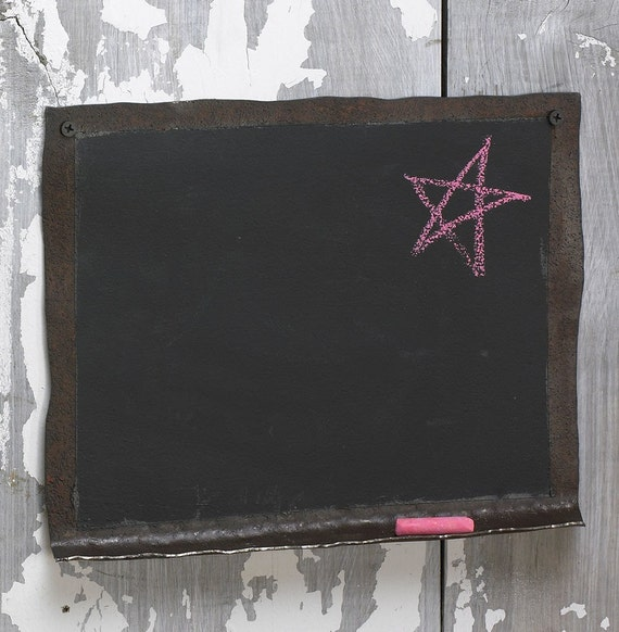 Chalkboard Handmade with Reclaimed Metal Free Shipping