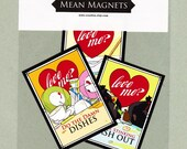 Mean Magnets Valentine's Dirty Dog pack for your fridge or office