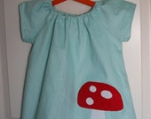 Winter Wonderland Icy Blue Mushroom Dress