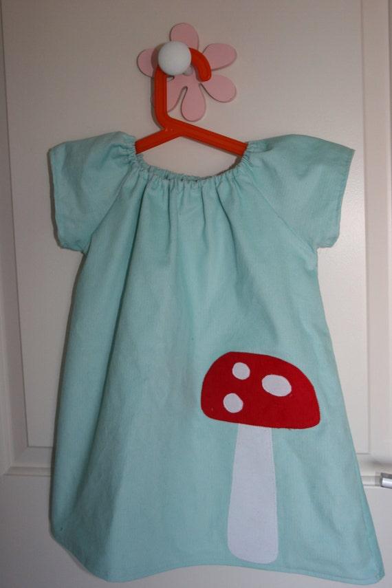 Winter Wonderland Icy Blue Mushroom Dress