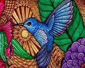 Humble Hummer, an ACEO Open Edition Authorized Art Print by Karen Anne Brady