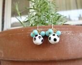 polka dot earrings