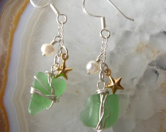 charming seaglass earrings