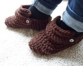 Coffee Dark Brown Slippers - Women size 6/7