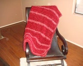 Chenille Striped Aghan with Fun Fur - RESERVED FOR AJ