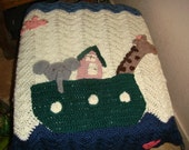 Noah's Ark Baby Blanket - FREE US SHIPPING