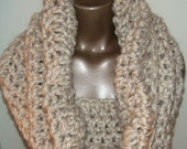 Thick and Chunky Cowl in Wheat