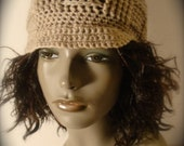 STEPHANIE Checkered Beanie in Natural (Tan) - (HOLIDAYSPECIAL) Take 10% Off