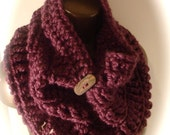 Cherry Berry Chunky Cowl - Coupon Code: HOLIDAYSPECIAL (10% off entire store)