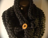 Charcoal Chunky Cowl - Coupon Code: HOLIDAYSPECIAL (10% off entire store)