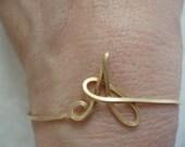 Initial Wire Cuff Bracelet Letter A