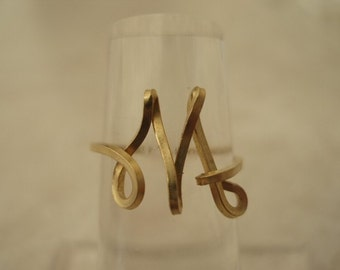 Initial Wire Ring Letter M