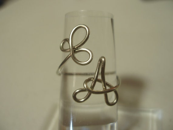 Shamrock and Initial A Ring