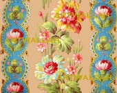 Digital Download No 101 - FRENCH FLORALS for gift wrapping,  ACEOs, scrapbooking, and origami