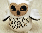 White owl with spotted print