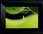 Original Framed Miniature Painting THE HOWLING