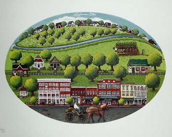 Hometown Painting Giclee' Print - OUR TOWN - Lebanon Ohio
