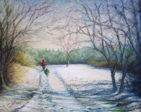 Award Winning - FINDING The PERFECT TREE - Original Pastel Painting