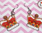 Jubilee crown earrings