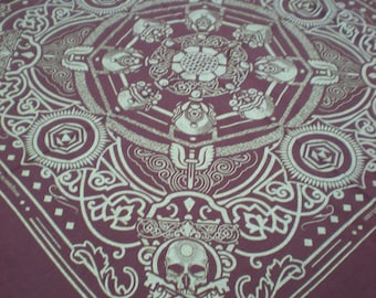 Skull and Keybones - Brown and Gold