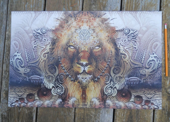 The Conquering Lion - Hologram 22x14 in