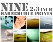 SALE on instant collection of nine 3 x 3 inch miniature fine art photographs
