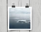 Fine art photograph (clouds 007) navy blue midnight sky home decor